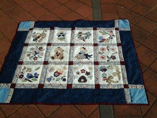 My first hand applique quilt, Joy Ott designs