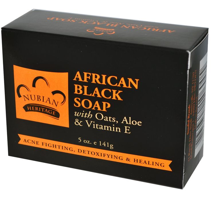 Nubian Heritage, African Black Soap Bar, 5 oz (141 g)