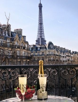 Enjoy a glass of champagne... make a toast to a beautiful stay in Paris!