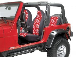 Coverking Front Seat Covers With JeepR Logo Rear Cover For Wrangler TJ