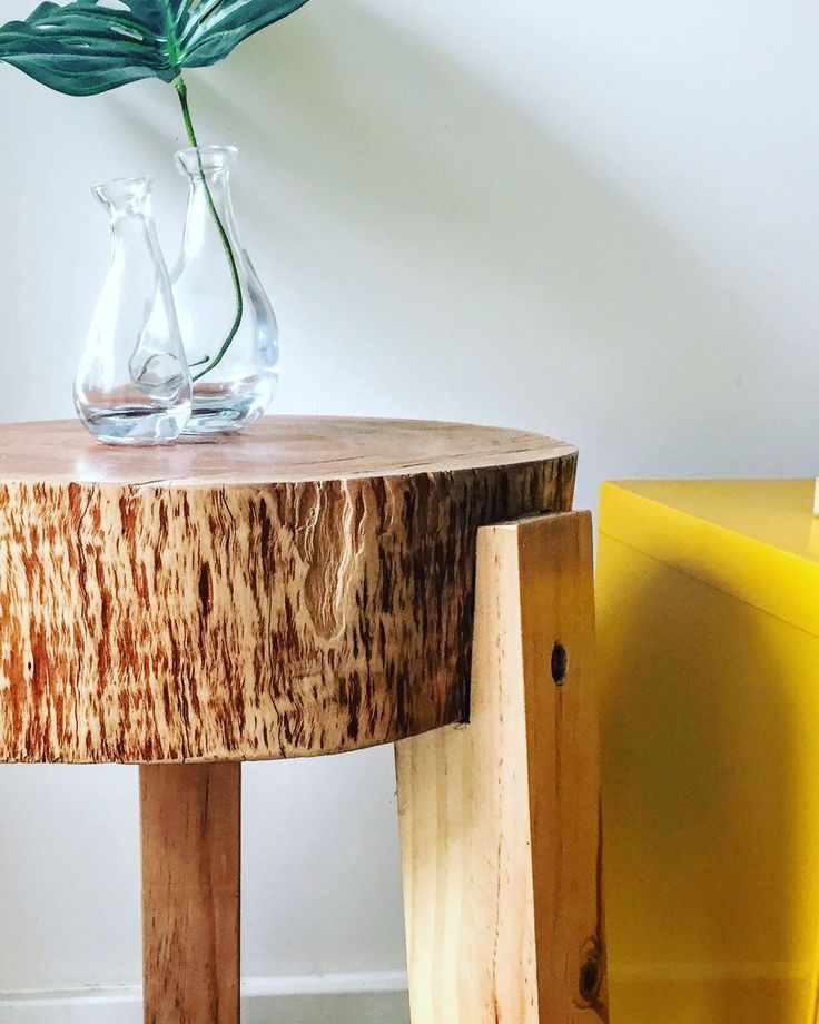 Solid Tree trunk side table! by FabianaLoschi on Etsy