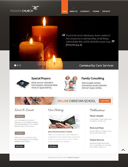 Best Church Christian Website Templates Images On Pinterest - Church website templates