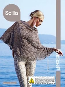 Free knitting pattern. Pattern category: Poncho. DK weight yarn. 750-900 yards. Features: Crochet Finish, Lace, Seamed. Intermediate difficulty level.
