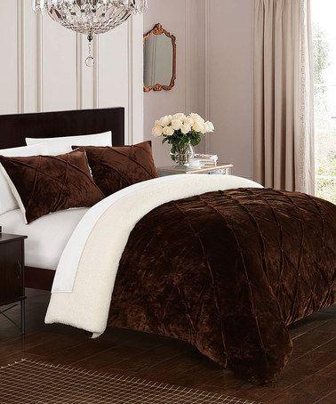 Brown Eugenia Comforter Set #zulily #zulilyfinds