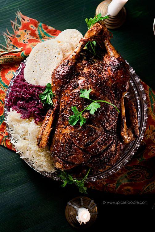 Czech Roasted Duck Recipe by @SpicieFoodie   #Czech #Duck #christmas