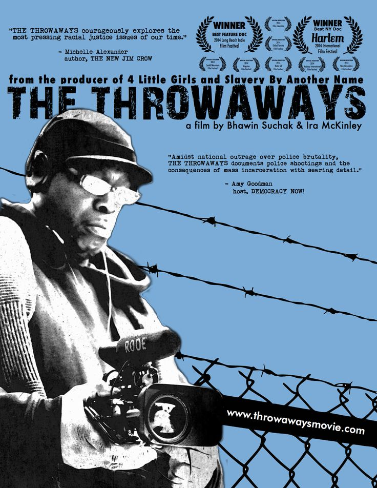 "#TheNewJimCrow | ""The Throwaways"": New Film Spotlights Impact of Police Killings and Mass Incarceration in Upstate NY - ""THE THROWAWAYS courageously explores the most pressing racial justice issue of our time: the mass incarceration and profiling of poor people of color. "" - Michelle Alexander author, The New Jim Crow"