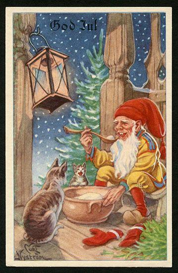 Julkort av Curt Nyström. Från 1950-talet.