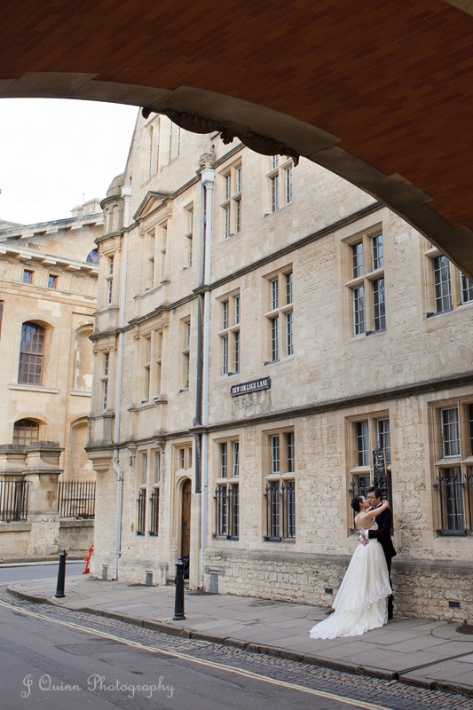 Engagement shoot, Oxford.  Er... who gets engaged in a wedding dress?