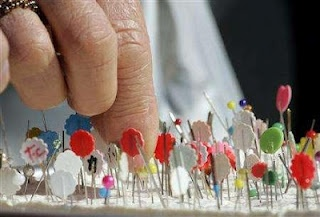 The Festival of Broken Needles, also known as Hari-Kuyo is an annual ceremony held at Shinto Shrines and Buddhist Temples for sewists, tailors and kimono makers.  Their worn and broken pins and needles, saved throughout the year, are laid to rest, thanked and honored for their faithful service. February 8 - every year.