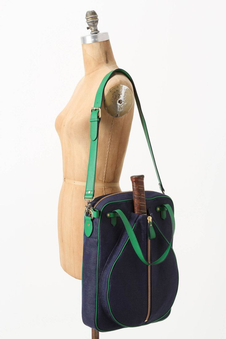 Navy and green  Augusta Tennis Racket Tote - Anthropologie.com