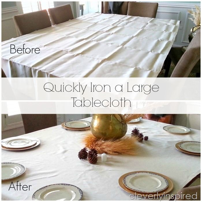 Quickly Iron a Large Tablecloth - Cleverly Inspired