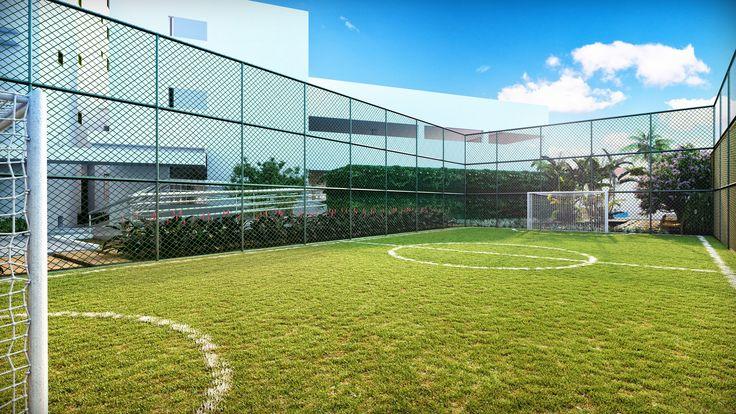 Campo de futebol para garantir a diversão dos moradores