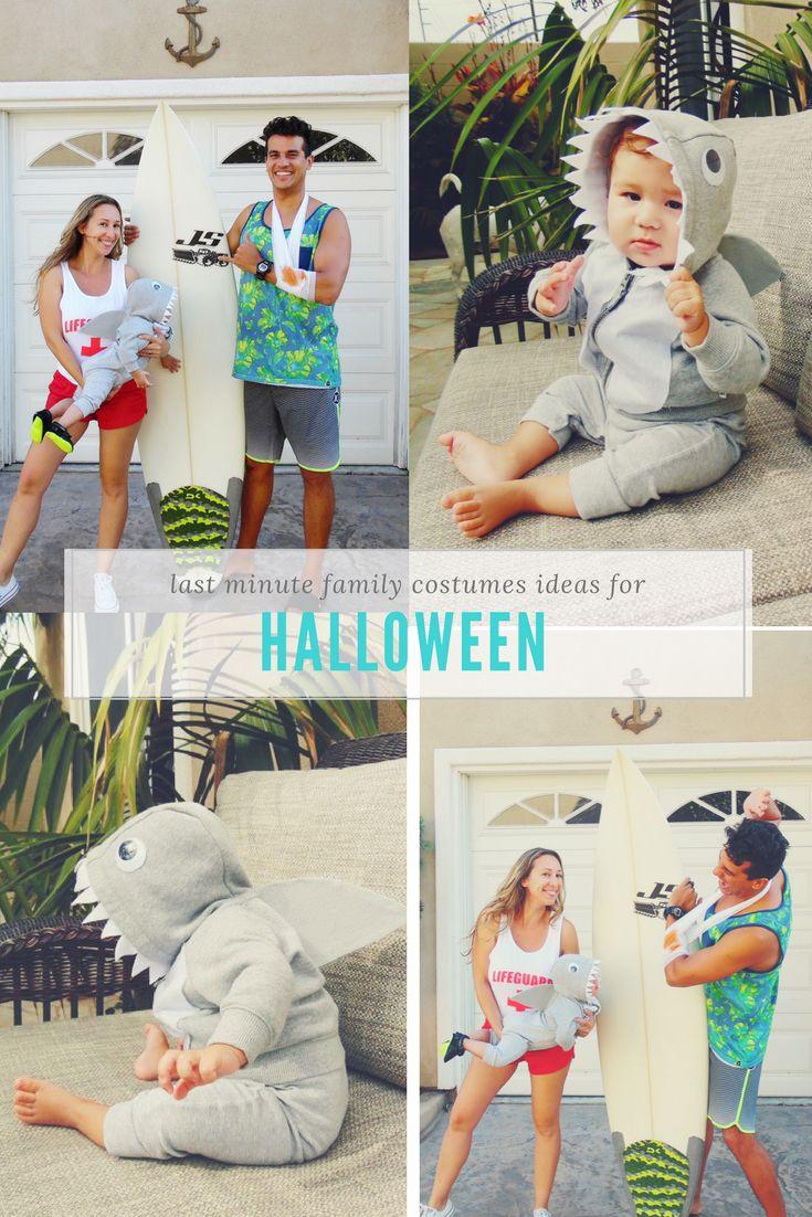 last minute halloween costume, baby shark costume DIY, baby halloween costume