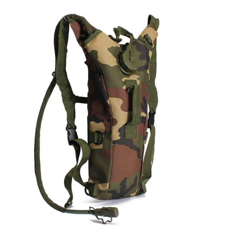 This heavy-duty water bag is a necessity for anyone planning a day in the bush. Able to carry up to three liters of water, this lightweight and breathable pack is comfortable for an all-day excursion and equipped with a tube and bite valve so you don't have to slow your trekking down. Convenient adjustable shoulder strap, chest strap, on/off bite valve, and a two-layer cargo design for extra carrying make this a perfect pouch for the modern-day outdoorsman.