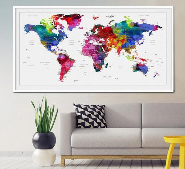 World Map Wall Art 20 best extra large wall art world map images on pinterest | large