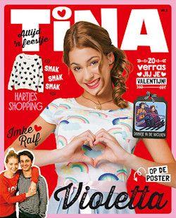 11x Tina € 25,-: Tina is het grootste weekblad voor meisjes met alles over muziek en sterren, mode en make-up, jongens en liefde. Nu 11 nummers voor slechts 25 euro!