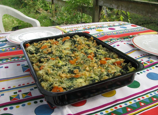 Nettle Rice Casserole - in Italian language