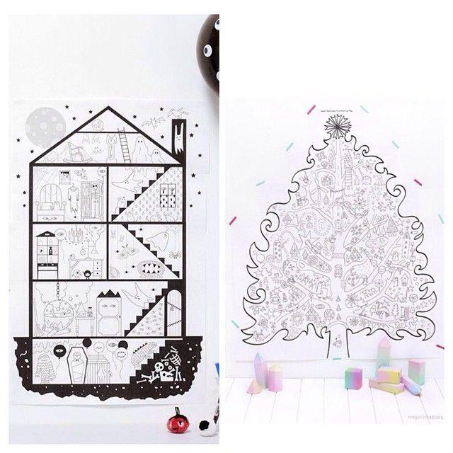 Sur le blog 5 coloriages géants à imprimer pour les kid * (LA solution pour les marmots dévoreurs de coloriage)