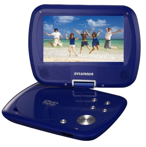Sylvania SDVD7037 7-Inch Portable DVD Player with Swivel Screen - Blue $57.99