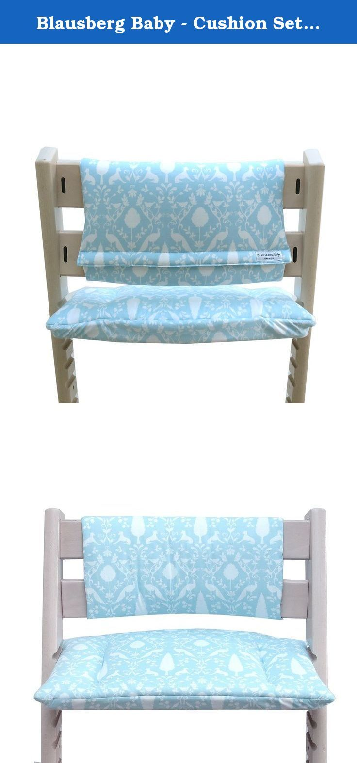 Stokke high chair blue - Blausberg Baby Cushion Set Junior For Tripp Trapp High Chair Of Stokke Turquoise Oxford