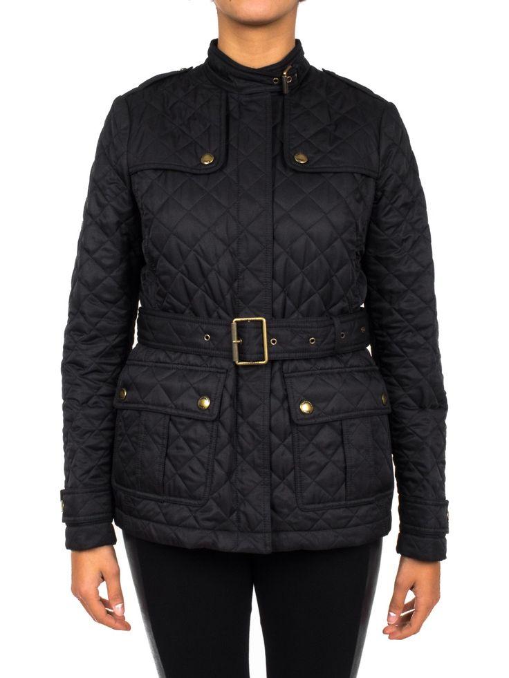 BURBERRY - Giacca trapuntata con cintura - Nero - Elsa-boutique.it #Burberry <3