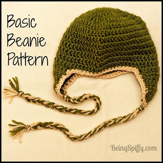 Free pattern  Basic Beanie with Earflaps pattern by Jill Swensen