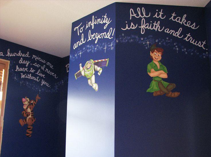 Disney Mural = Kids room :)