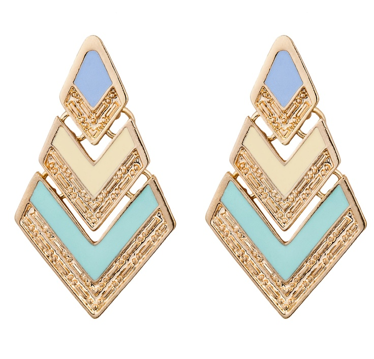 RHOMBUS RETRO PASTEL EARRINGS