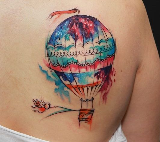 Воздушный шар тату эскизы
