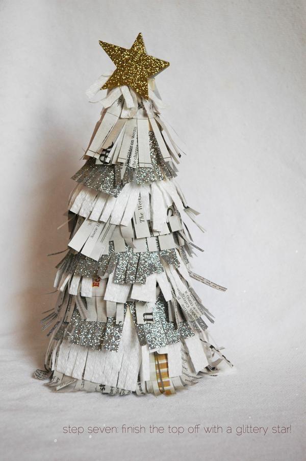 DIY glitter fringe christmas tree 119 best