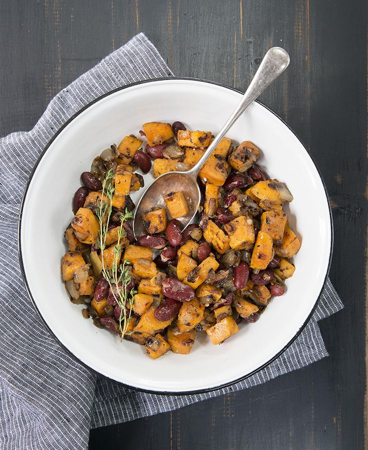 Red beans and sweet potatoes is an irresistible combo of fun flavor and serious nutrient goodness—and a great way to use up a leftover sweet potato if you have one hanging out in your fridge.