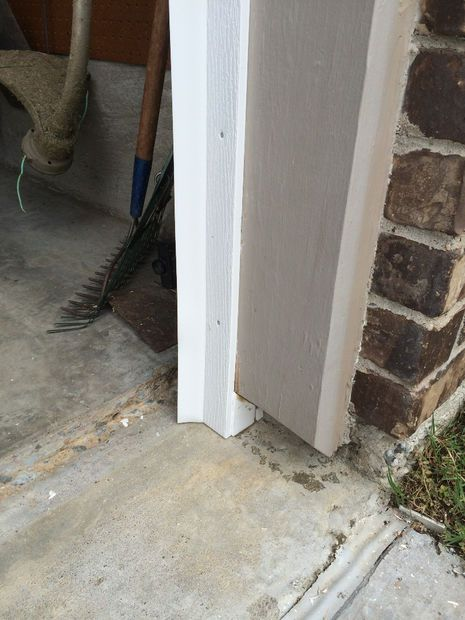 Rot and rodent-proof garage door seal with PVC and weather stripping