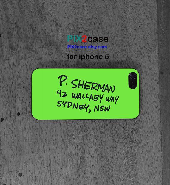 iPhone 5 Case, Finding Nemo Addres, iPhone Hard Case, iPhone Silicone Case, cartoon iphone, disney iphone case