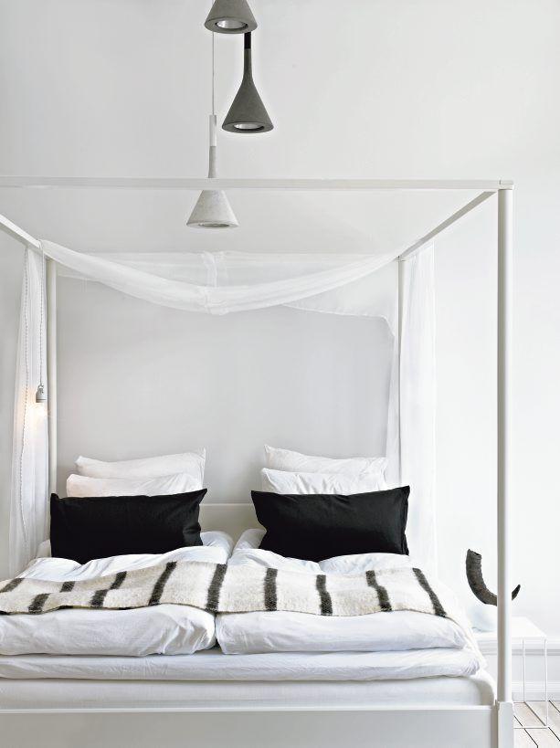 Nina Bergsten: Interior, Beds, Black And White, Black White, Bedrooms, House, Design, White Bedroom