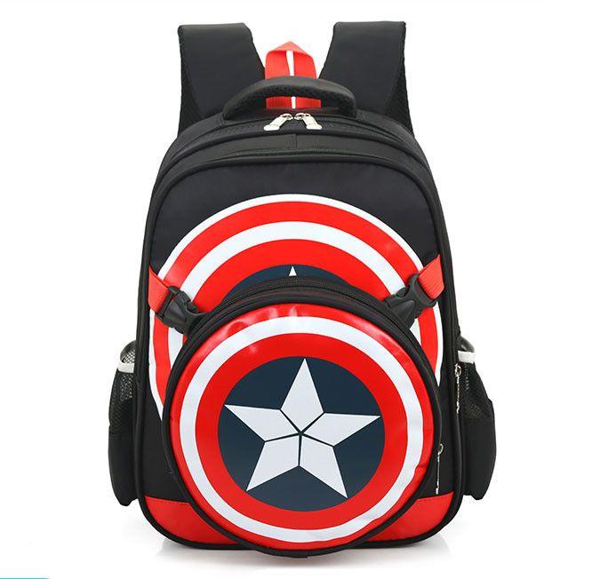 2016 Captain America School Bags for Boys Student Shoulder Bag Travel Bag Satchel High Quality Children Backpacks Best Gift