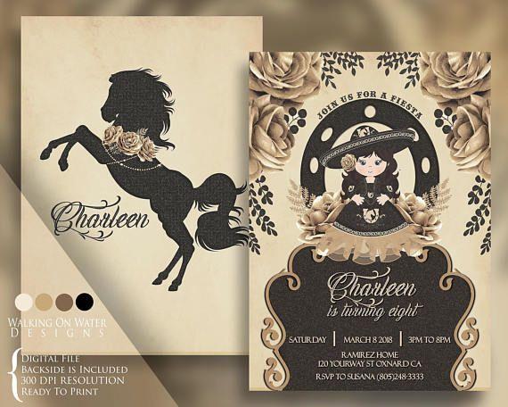 546a533e9 Charro Mariachi Elegant Horse Invitation