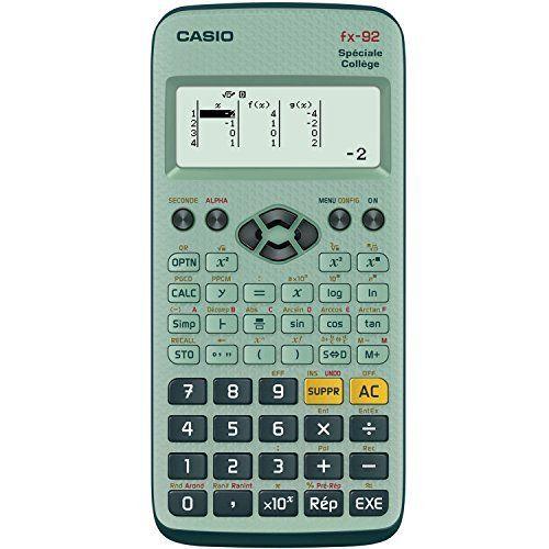 Casio Fx 92 Calculatrice scientifique Spéciale Collège: Entièrement en français, la calculatrice scientifique Fx-92 Spéciale Collège a été…