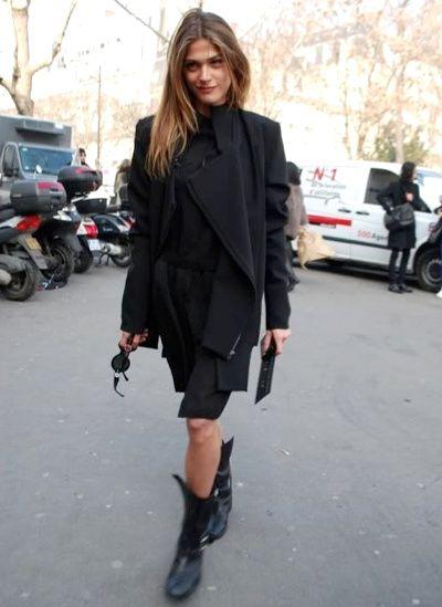 Elisa Sednaoui in a all black combo