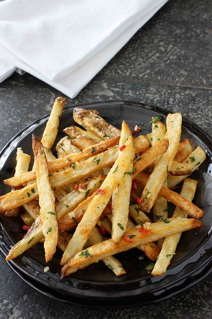 Baked French Fries with Chile Peppers & Cilantro - Super Bowl?