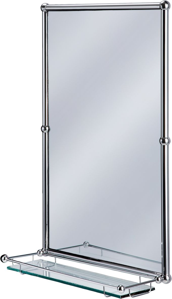 Browse Here For A Great Deal On Traditional Burlington Bathrooms Chrome Rectangular Mirror With Shelf Buy From Trusted Retailer Est 18 Years Online Or In