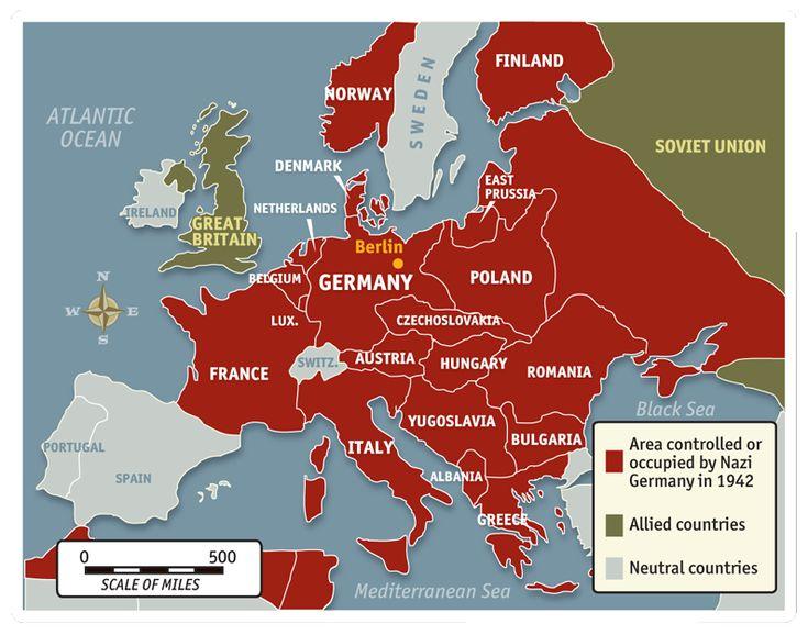 Austria Nazi Invasion Map Pictures To Pin On Pinterest ThePinsta - Third reich map 1944