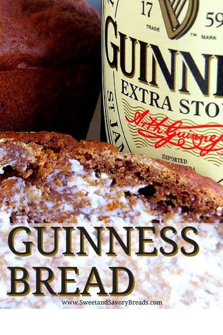 This is a dense moist bread with great flavor. Molasses and stout beer is used for an intensely rustic and festive Guinness bread.