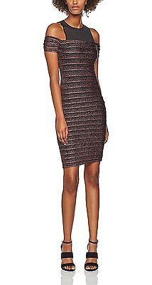 12, Multi-Colored (Black Pattern), New Look Women's Backless Bodycon Regular Dre