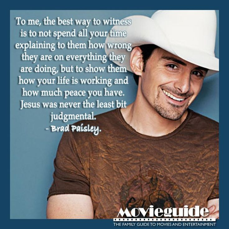 Thanks Brad Paisley! This is definitely one way to let Christ be known! :)