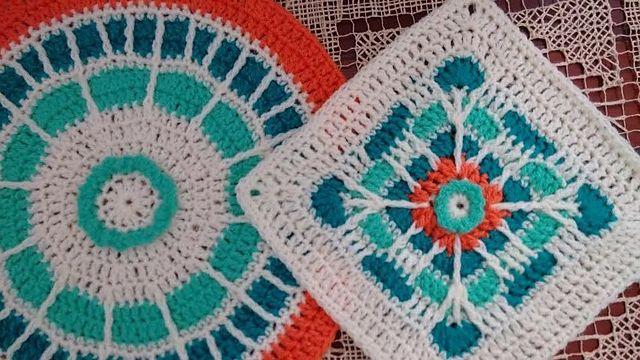 70 best CAL Summer Mosaic Afghan images on Pinterest | Mosaik ...