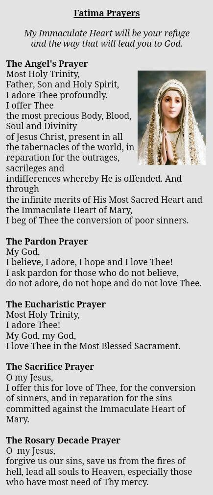 Fatima prayers...