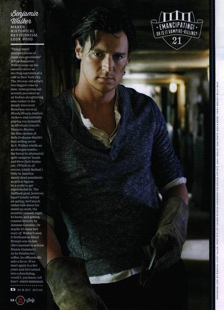 Benjamin Walker. He's so hot. He could be liam neeson's son.
