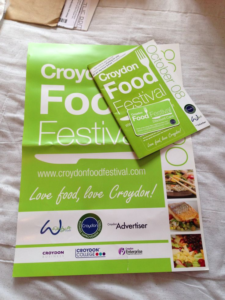 Food festival marketing. Green brochure, poster and discount card #insight2marketing #i2m