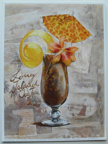$24.99  Food Drink Cocktail BAR ART Prints Long Island ICE TEA BY Sonia Svenson | eBay #bar #art #drink