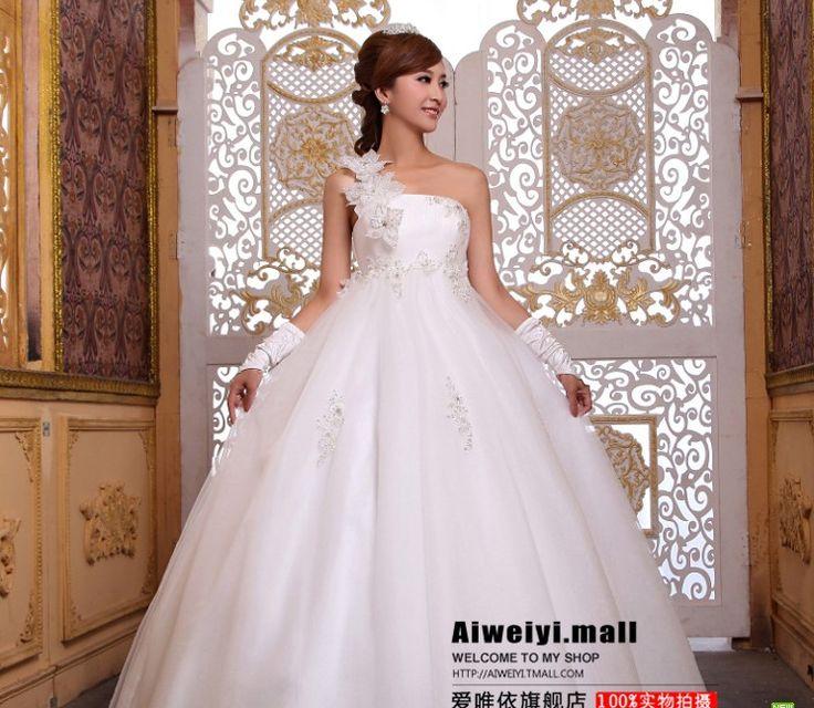 2015 новый одно плечо пользовательские белый кот кружево аппликация платье высокая талия бисероплетение материнства вечернее платье невесты свадебное платье